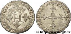 HENRI III Double sol parisis, 2e type 1582 Riom