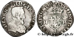 HENRY II Demi-teston à la tête nue, 1er type 1553 Limoges