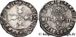 HENRY IV Quart décu, croix feuillue de face 1590 Bayonne