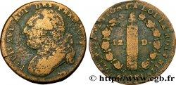 LOUIS XVI 12 deniers dit au faisceau, type FRANÇOIS 1792 Pau