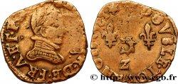 HENRY III Double tournois, 1er type du Dauphiné 1581 Grenoble