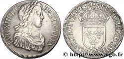 LOUIS XIV THE SUN KING Écu à la mèche longue 1649 Bordeaux