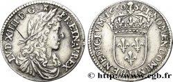 LOUIS XIV THE SUN KING Douzième décu au buste juvénile 1660 Limoges XF