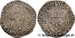 HENRY IV Quart décu, croix feuillue de face 1605 Rennes XF