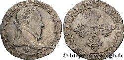 HENRY III Demi-franc au col plat 1587 Rennes