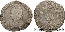 CHARLES IX Demi-teston, 2e type 1562 Rennes