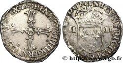 HENRY IV Quart décu, croix feuillue de face 1603 Rennes