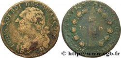 LOUIS XVI 12 deniers dit au faisceau, type FRANÇOIS 1793 Dijon ou Roanne