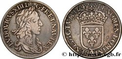 LOUIS XIII Demi-écu, 2e type, 1er poinçon de Warin 1642 Paris, Monnaie du Louvre XF