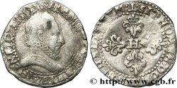 HENRY III Demi-franc au col plat 1576 Nantes
