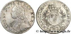 """LOUIS XV THE WELL-BELOVED Écu dit """"aux branches dolivier"""" 1726 La Rochelle"""