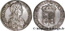 LOUIS XIV LE GRAND OU LE ROI SOLEIL Écu à la mèche longue de Béarn 1651 Pau