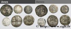 LOTS Lot de 6 monnaies royales en argent n.d. s.l. VF