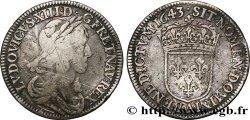 LOUIS XIII LE JUSTE Quart décu dargent, 3e type, 2e poinçon de Warin 1643 Paris, Monnaie du Louvre TB+/TTB
