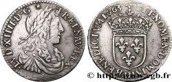 LOUIS XIV LE GRAND OU LE ROI SOLEIL Douzième décu au buste juvénile, 1er type 1663 Lyon