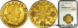 LOUIS XIV LE GRAND OU LE ROI SOLEIL Louis dor juvénile lauré 1671 Aix-en-Provence