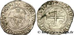 CHARLES VIII Blanc à la couronne n.d. Bourges TTB