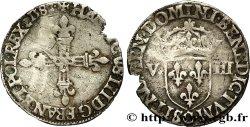 HENRY III Huitième décu, croix de face 1588 Saint-Lô VF