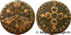 LOUIS XIV THE SUN KING Six deniers dits Dardennes 1710 La Rochelle MBC
