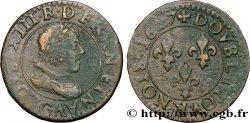 LOUIS XIII Double tournois, type 3 1627 Poitiers