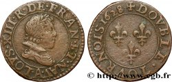 LOUIS XIII Double tournois, type 3 1628 Paris