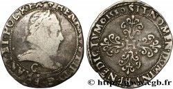 HENRY III Franc au col plat 1580 Saint-Lô S/SS
