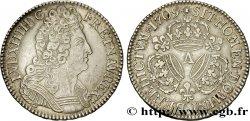 LOUIS XIV THE SUN KING Demi-écu aux trois couronnes 1709 Paris