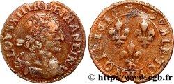 LOUIS XIII Double tournois, type 2 1638 Rouen