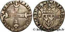 HENRY III Huitième décu, croix de face 1583 Saint-Lô VF