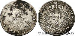 LOUIS XV DIT LE BIEN AIMÉ Demi-écu dit aux branches dolivier 1728 Poitiers