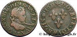 LOUIS XIII Double tournois, type 1 1611 Nantes VF