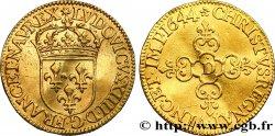 LOUIS XIV THE SUN KING Écu dor au soleil, 1er type 1644 Lyon