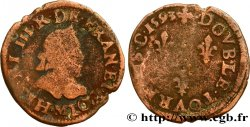 LIGUE. COINAGE AT THE NAME OF HENRY III Double tournois, type de Toulouse 1593 Toulouse