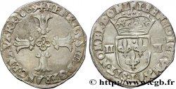 HENRI IV LE GRAND Quart décu, croix feuillue de face 1609 Bayonne