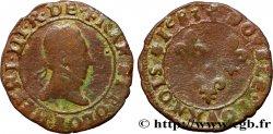 HENRY III Double tournois, type de Rouen 1583 Rouen VF