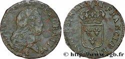LOUIS XV DIT LE BIEN AIMÉ Liard au buste enfantin 1721 Reims TTB