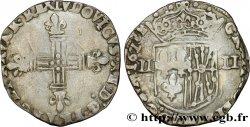 LOUIS XIII LE JUSTE Quart décu de Navarre 1618 Saint-Palais