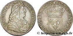 LOUIS XIV LE GRAND OU LE ROI SOLEIL Écu à la cravate dit du Parlement 1er type, 2e buste de Bayonne 1679 Bayonne