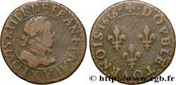 LOUIS XIII LE JUSTE Double tournois, type 2 1616 Amiens