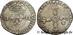 HENRI IV LE GRAND Quart décu, écu de face, 2e type 1604 Aix-en-Provence