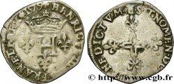 HENRI III Double sol parisis, 2e type 1579 Saint-André de Villeneuve-lès-Avignon TB+