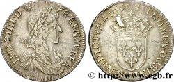 LOUIS XIV LE GRAND OU LE ROI SOLEIL Demi-écu au buste juvénile, 1er type 1660 Bayonne