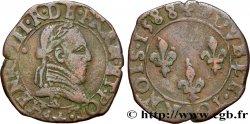 HENRY III Double tournois, 2e type de Tours 1588 Tours