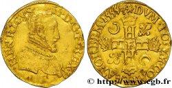 HENRI II Henri dor, 1er type 1555 Angers