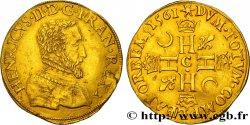 CHARLES IX. MONNAYAGE AU NOM DE HENRI II Double henri dor, 1er type 1561 Saint-Lô