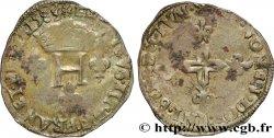 HENRI III Double sol parisis, 2e type 1583 Saint-André de Villeneuve-lès-Avignon