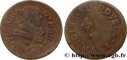 LOUIS XIII LE JUSTE Double tournois, type 1 1632 La Rochelle
