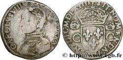 CHARLES IX Teston, 2e type 1564 La Rochelle