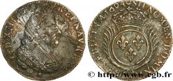 LOUIS XIV THE SUN KING Quart décu aux palmes 1694 Aix-en-Provence VF