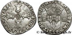 HENRI IV LE GRAND Quart décu, croix feuillue de face 1607 Bayonne TTB
